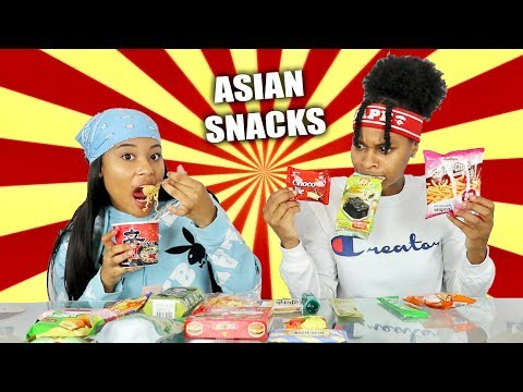 AMERICANS TRYING ASIAN SNACKS!!!!