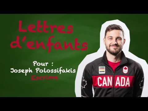 Lettres d'enfants : Joseph Polossifakis -  Équipe Canada