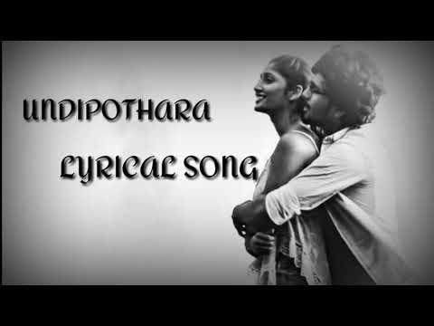 Undipotara song femaleversion...#HUSHARU MOVIE
