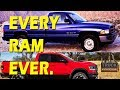 EVERY DODGE RAM from 1981-2019! plus 2018 Ram 1500 Review