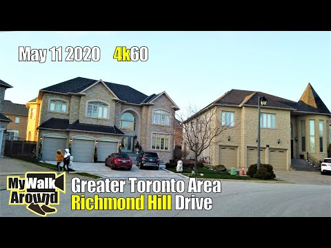 Greater Toronto area 's Richmond Hill - driving tour in 4K on May 11 2020 (4k driving video)