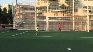 Noah Playing Soccer June 2015