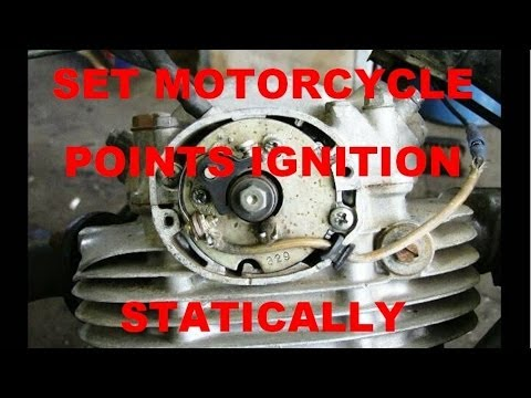 How to set a Motorcycle Points Ignition, Statically - YouTube