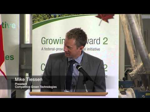 Competitive Green Technologies $3 Million Funding Sept 9, 2014