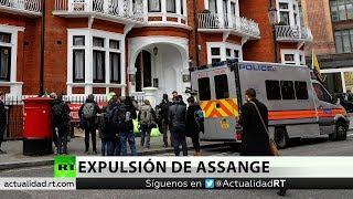 Detienen a Assange en Londres tras retirarle Ecuador el asilo