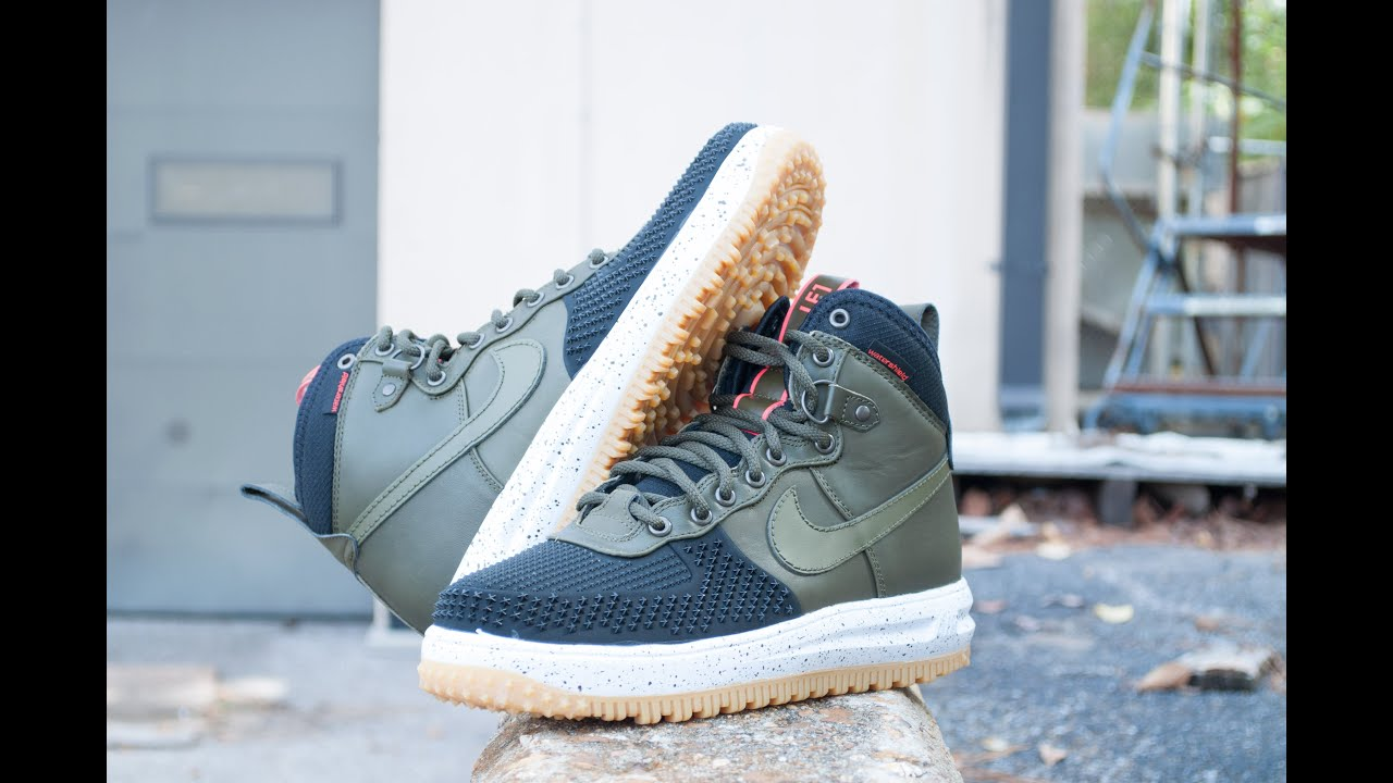 save off 998f7 66fa3 Nike Lunar Force 1 Duckboot Olive Shoe Review and On Feet Review  CGKicks