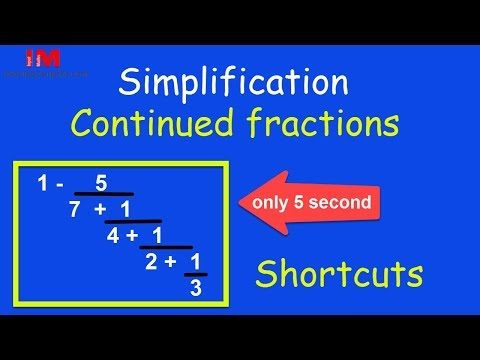 Simplification | Continued Fractions Shortcuts  | For IBPS | SSC | UPSI