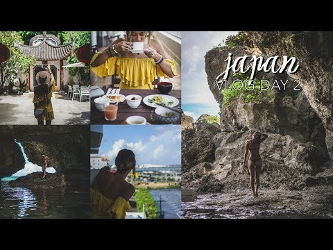 Japan Vlog Day 2 // Okinawa (Mermaid's Grotto, Japanese Food & Garden Goals)