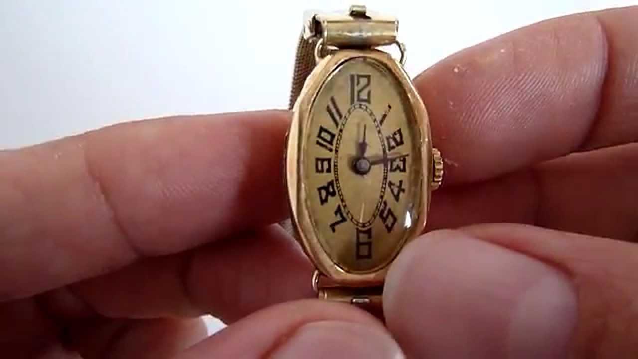 A la venta reloj caja de oro 18k antiguo para dama youtube for Relojes de pared antiguos precios