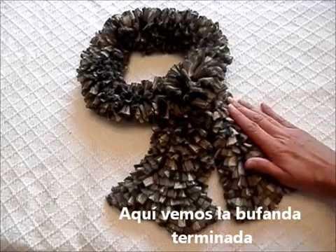 Bufanda con lana tipo cinta - YouTube