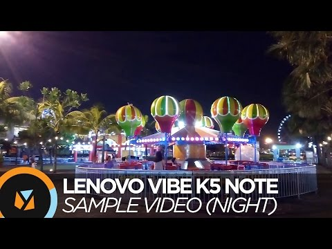 Lenovo VIBE K5 Note Review - Sample Video (Night)