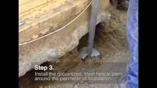 Foundation Repair using Helical Piers