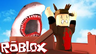 JAWS SHARK ATTACK IN ROBLOX! (ESCAPING JAWS)