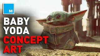 Disney+ Releases BABY YODA Concept Art