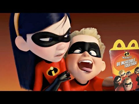 Incredibles 2 Movie All TV Spot Mcdonalds Happy Meal Toys Commercial 2018
