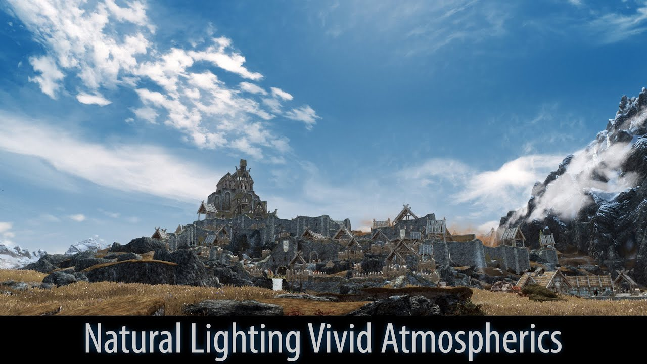 skyrim mod spotlight 2016 natural lighting vivid atmospherics