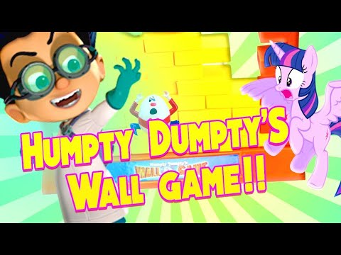 My Little Pony & PJ Masks Humpty Dumpty's Wall Game At The Amusement Park! Featuring Romeo & Catboy