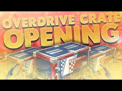30 NEW OVERDRIVE CRATE OPENING!!! New Black Market Goal Explosion + MORE! (Rocket League Update)