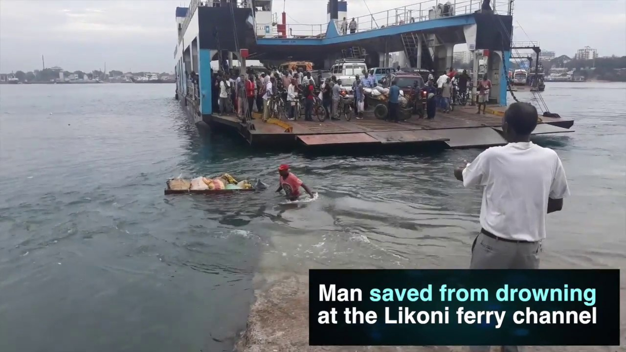 Man saved from drowning at the Likoni ferry channel.