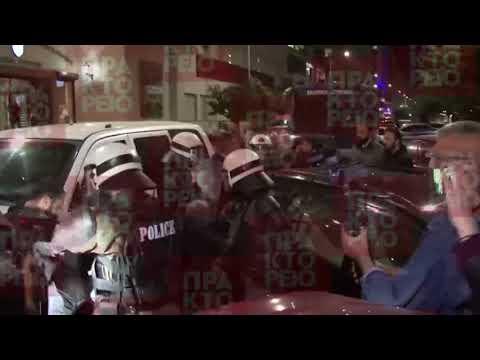 """Διαμαρτυρίες έξω από το θέατρο """"Αριστοτέλειον"""""""