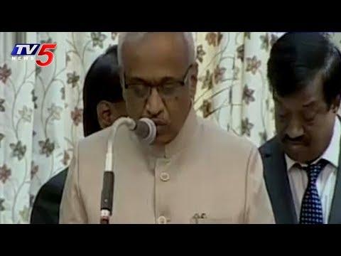 Telangana New Information Commissioners Oath Taking Ceremony at Raj Bhavan | TV5 News
