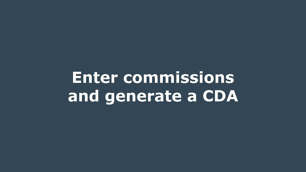 Manage Commissions Paperless Pipeline