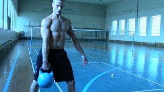 Подъем Гири 56 кг.18 раз за 30 сек.Jerk gira(KB) 56 kg.right hand. 18 reps in 30 sec.Sitnikov Vitaly