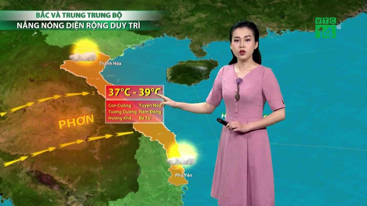 Thời tiết 6h ngày 11/04/2019: Gió Tây Nam gây hiệu ứng phơn nên nắng nóng xảy ra diện rộng  | VTC14