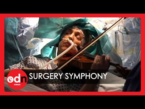 Incredible Footage of Violinist Performing During Brain Surgery