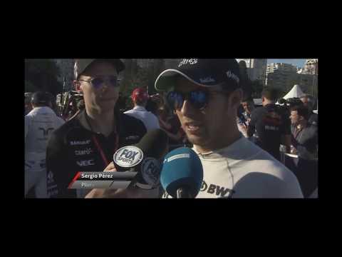 Entrevista Checo Perez Post Qualy Baku 2017 F1
