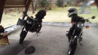 バイクでブッシュクラフトの予定が雹で待機所でカマドスマートで肉焼き焼き!続きはInstagramでアップしました!