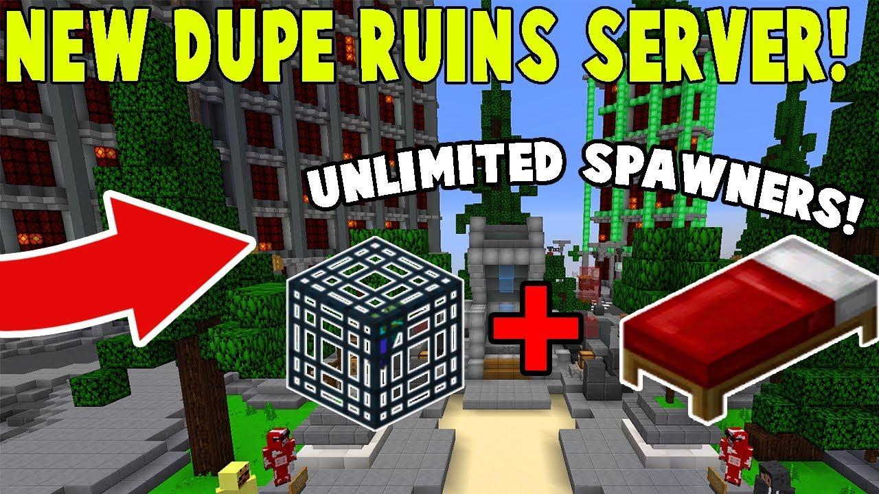 NEW DUPE GLITCH RUINS SERVER! | Minecraft Skyblock (PvPWars)