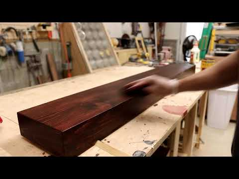 How you can make thick floating shelves