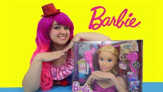 Barbie Crimp & Color Deluxe Styling Head | TOY REVIEW | KiMMi THE CLOWN