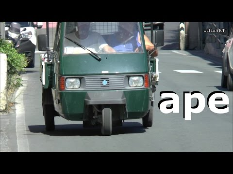 Real maximum SOUND the mega cool APE cars movie on YouTube - Piaggio Italia Italy Liguria
