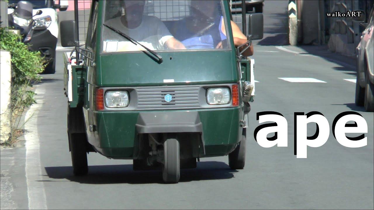 Real Maximum Sound The Mega Cool Ape Cars Movie On Youtube Part 1 Piaggio Italia Italy Liguria