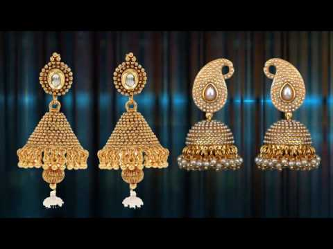 Gold Earrings Collection Diamond Earring Design Earring Designs clip17