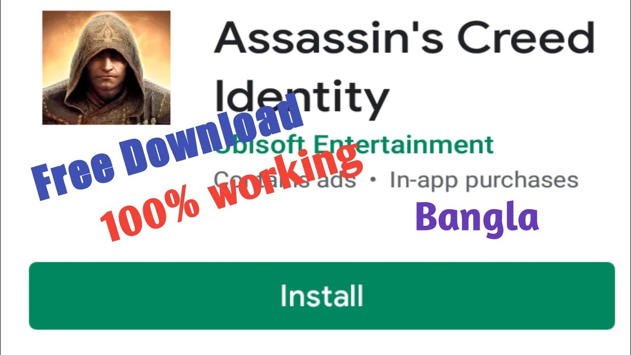 How to Download Assassin's creed identity in android {Bangla}   CREATIVE  ARG  