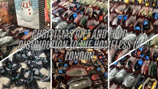 Christmas Gift and Food Distribution to the Homeless in London End of Year 2020