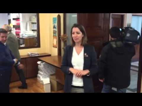"""La alcaldesa de Lugo ya conoce a sus empleados, """"motor"""" de la administración"""
