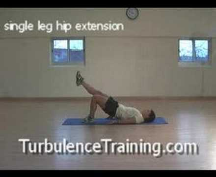 single leg hip extension