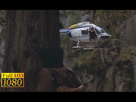 Rambo First Blood (1982) - Rambo Vs Helicopter Scene (1080p) FULL HD thumbnail