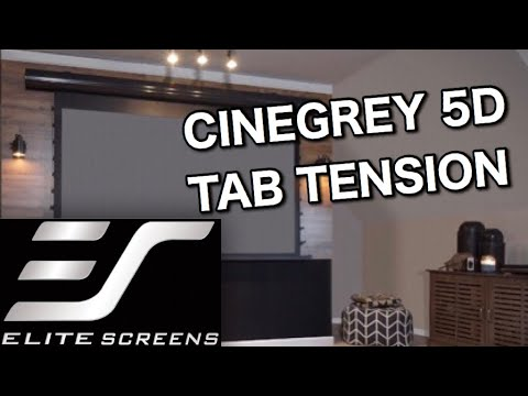A GRAY PROJECTOR SCREEN?!?! | Elite Screens Starling Tab Tension CineGrey Review