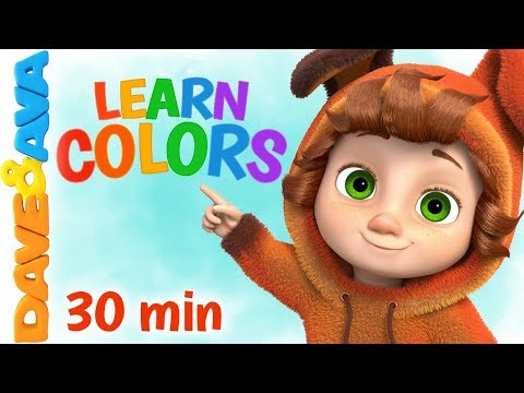 🎨 Learn Colors & Numbers | Baby Songs & Nursery Rhymes | Dave And Ava 🎨
