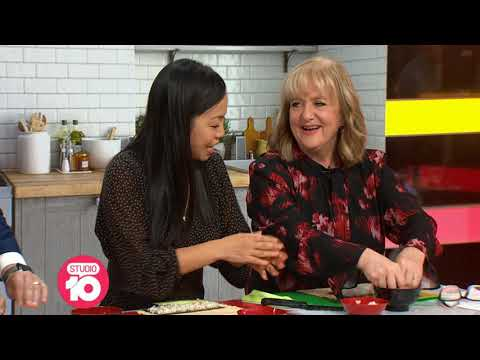 Yoshiko Making Sushi On Studio 10 - Channel 10