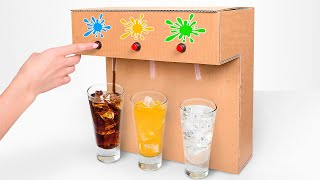 How to Make Coca-Cola Soda Fountain Machine with 3 Different Drinks at Home