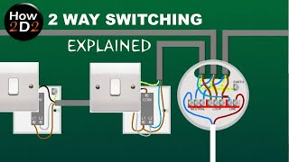 2 WAY SWITCHING EXPLAINED How to wire 2 way switches together Wiring light  switch to ceiling rose - YouTube | Bathroom Light Switch Wiring Diagrams Multiple |  | YouTube