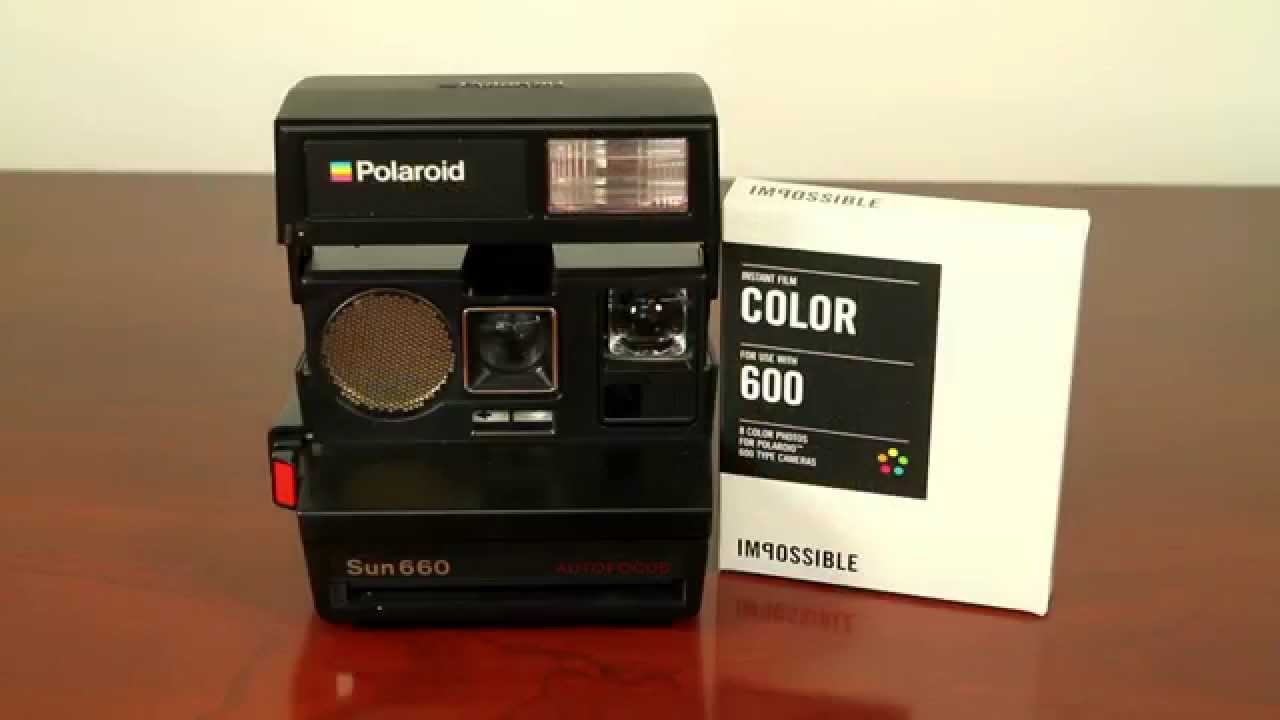 polaroid sun 660 instant camera by impossible youtube rh youtube com  Polaroid Sun 6 00 LMS Film