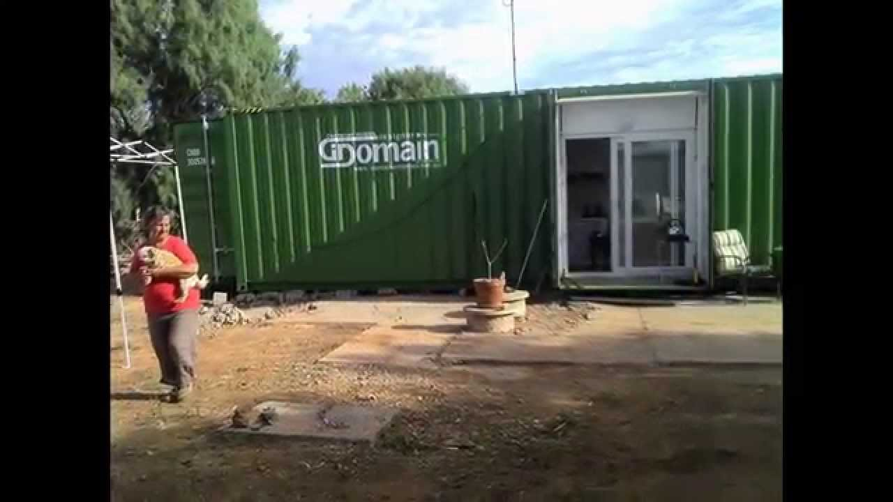 my 40 foot container home www.containerhomes.au - youtube