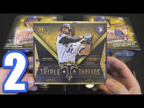 TOPPS TRIPLE THREADS BOX BREAK! | Opening Packs #2